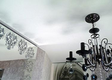 матовый натяжной потолок классика